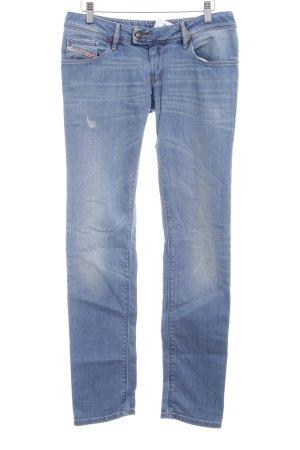 Diesel Slim Jeans stahlblau Casual-Look