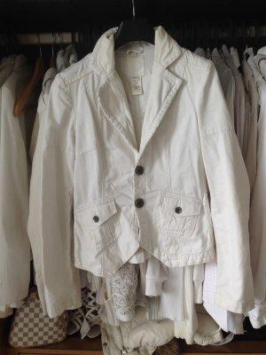 Diesel Marynarka jeansowa biały-w kolorze białej wełny