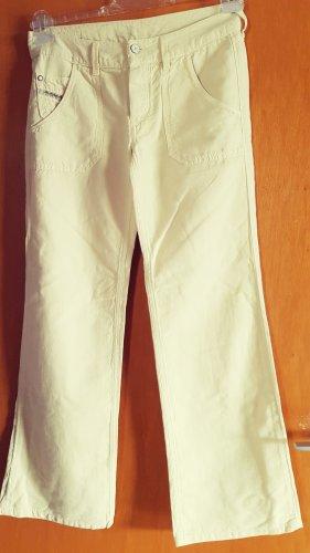Diesel Linen Pants pale yellow cotton