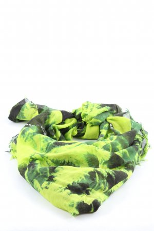 Diesel Summer Scarf green-black graphic pattern casual look