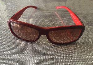 Diesel Gafas de sol cuadradas rojo-rojo oscuro
