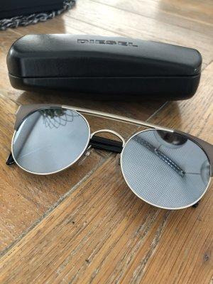 Diesel Round Sunglasses silver-colored