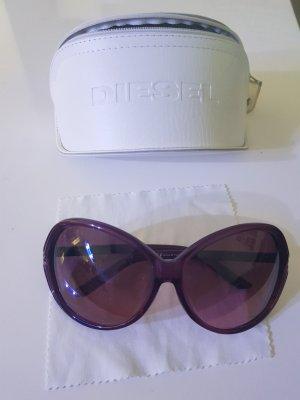 Diesel Occhiale da sole ovale viola