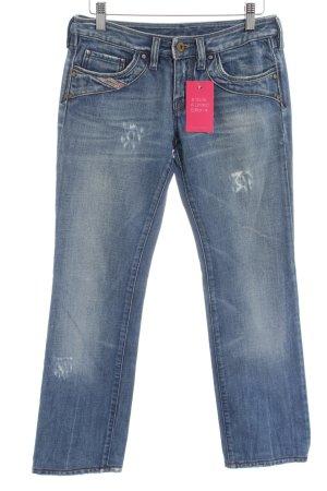 Diesel Jeansy z prostymi nogawkami niebieski Prosty styl