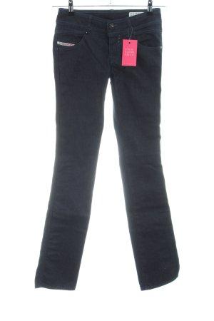 Diesel Straight-Leg Jeans schwarz Casual-Look