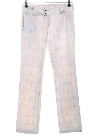 Diesel Jeansy z prostymi nogawkami Wzór w kratkę W stylu casual