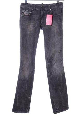 Diesel Straight-Leg Jeans hellgrau Casual-Look
