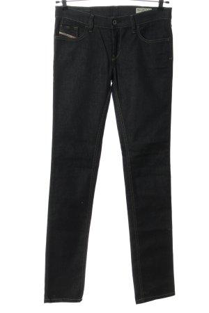 Diesel Jeansy z prostymi nogawkami czarny W stylu casual