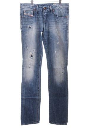 Diesel Straight-Leg Jeans blau Farbverlauf Casual-Look