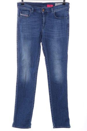 Diesel Jeans met rechte pijpen blauw casual uitstraling