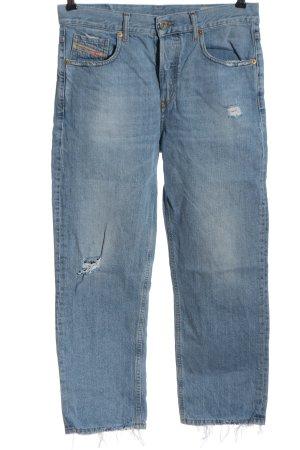 """Diesel Jeansy z prostymi nogawkami """"Aryel"""" niebieski"""