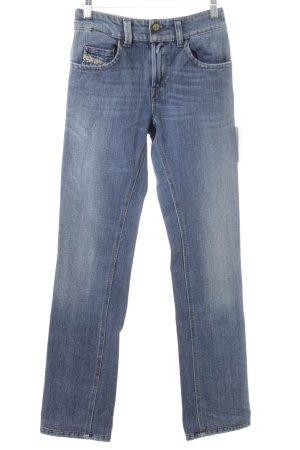 """Diesel Jeansy z prostymi nogawkami """"Brucke"""" niebieski"""