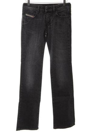 """Diesel Jeansy z prostymi nogawkami """"Ronhary"""" czarny"""
