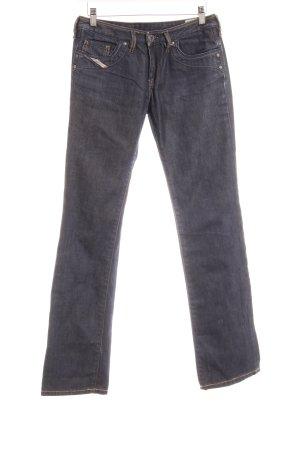 Diesel Jeansy z prostymi nogawkami ciemnoniebieski W stylu casual