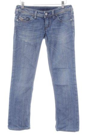 Diesel Jeansy z prostymi nogawkami chabrowy W stylu casual