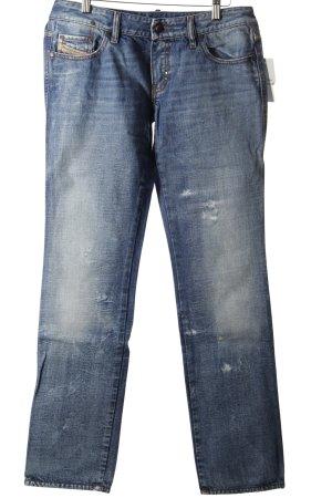 """Diesel Jeansy z prostymi nogawkami """"Lhela"""" niebieski"""