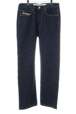 """Diesel Jeansy z prostymi nogawkami """"Luster"""" niebieski"""