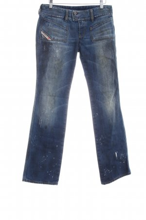 Diesel Jeansy z prostymi nogawkami Wielokolorowy Aplikacja z logo