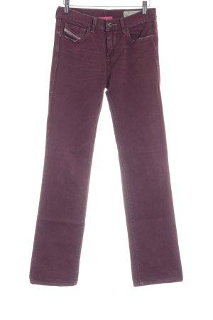 Diesel Jeansy z prostymi nogawkami purpurowy Styl klasyczny