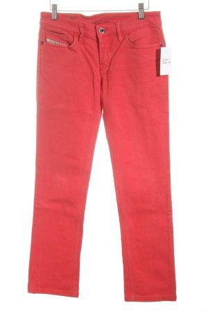 Diesel Jeansy z prostymi nogawkami czerwony Jeansowy wygląd