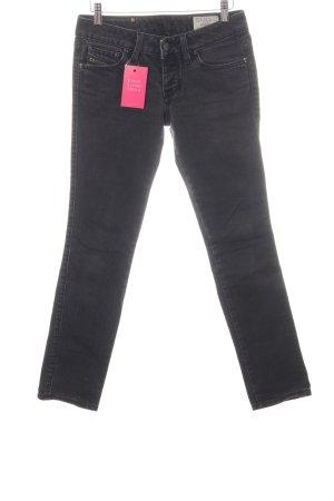 Diesel Jeansy z prostymi nogawkami czarny Aplikacja z logo