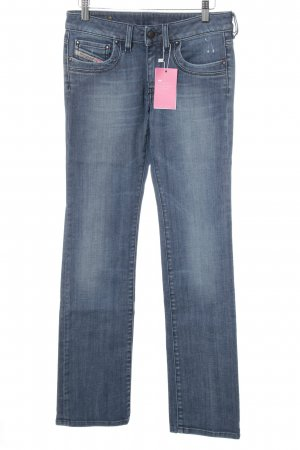 Diesel Jeansy z prostymi nogawkami stalowy niebieski W stylu casual