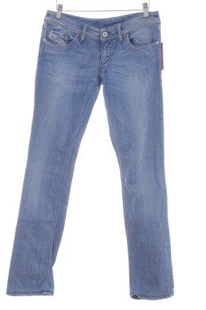 Diesel Jeansy z prostymi nogawkami stalowy niebieski-chabrowy W stylu casual