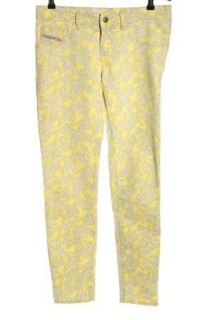 Diesel Jeans stretch jaune primevère-gris clair imprimé allover