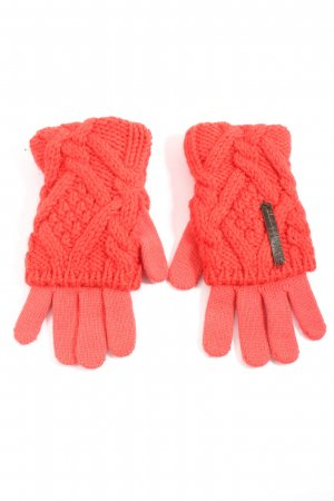 Diesel Knitted Gloves light orange cable stitch casual look