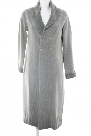 Diesel Knitted Coat light grey flecked casual look