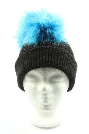 Diesel Sombrero de punto negro-azul look casual