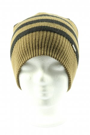 Diesel Knitted Hat black-natural white striped pattern casual look