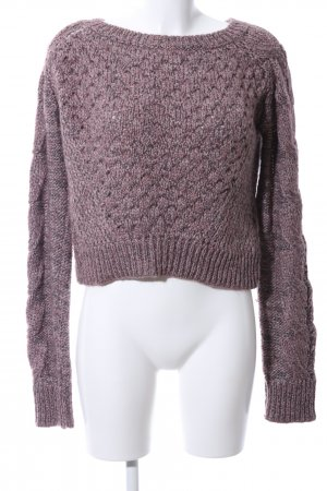 Diesel Strickpullover lila Zopfmuster Casual-Look