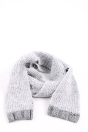 Diesel Knitted Scarf light grey striped pattern casual look