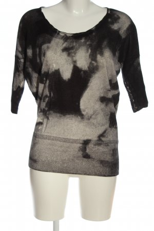 Diesel Strickshirt schwarz-hellgrau abstraktes Muster Casual-Look