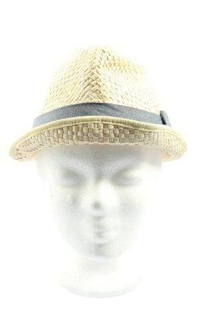 Diesel Chapeau de paille crème-noir style décontracté