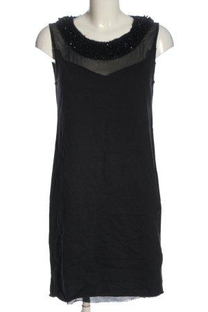 Diesel Vestido de tela de sudadera negro elegante