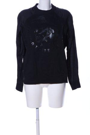 Diesel Sweatshirt schwarz Motivdruck Casual-Look