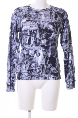 Diesel Sweatshirt schwarz-weiß abstraktes Muster Casual-Look