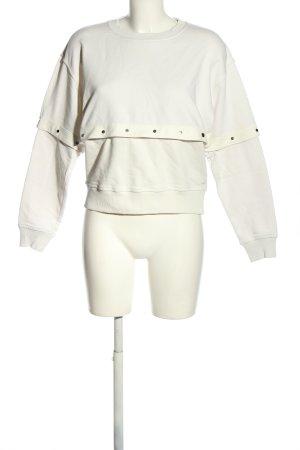 Diesel Sweatshirt blanc style décontracté