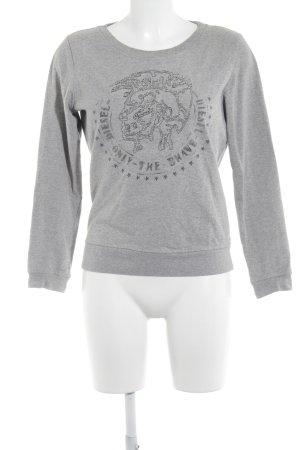 Diesel Sweatshirt hellgrau-grau Motivdruck Casual-Look