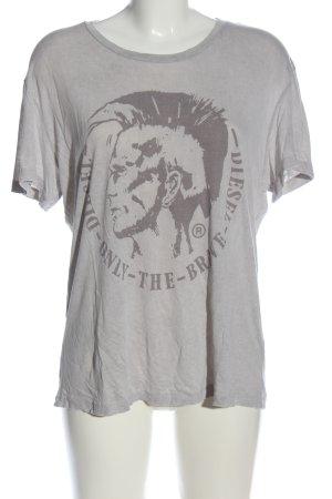 Diesel T-Shirt hellgrau Motivdruck Casual-Look
