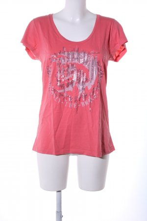Diesel T-Shirt pink Motivdruck Casual-Look