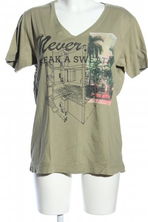 Diesel T-Shirt khaki Motivdruck Casual-Look