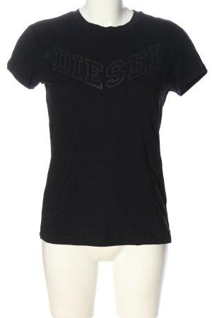 Diesel T-shirt noir lettrage imprimé style décontracté
