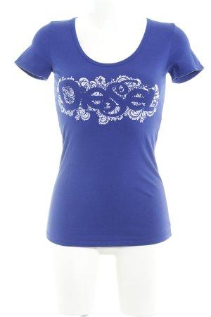 Diesel T-Shirt blauviolett Casual-Look