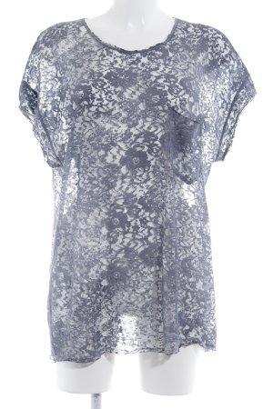 Diesel T-Shirt graublau Allover-Druck Casual-Look