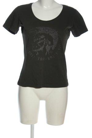 Diesel T-Shirt hellgrau Casual-Look