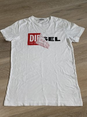 Diesel T-Shirt Herren gr, S weiß rot
