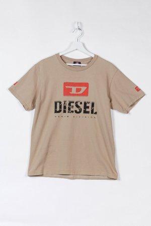 Diesel T-shirt beżowy Bawełna